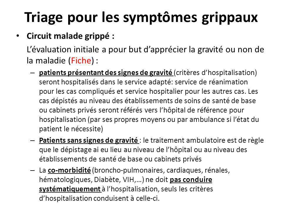 Triage pour les symptômes grippaux