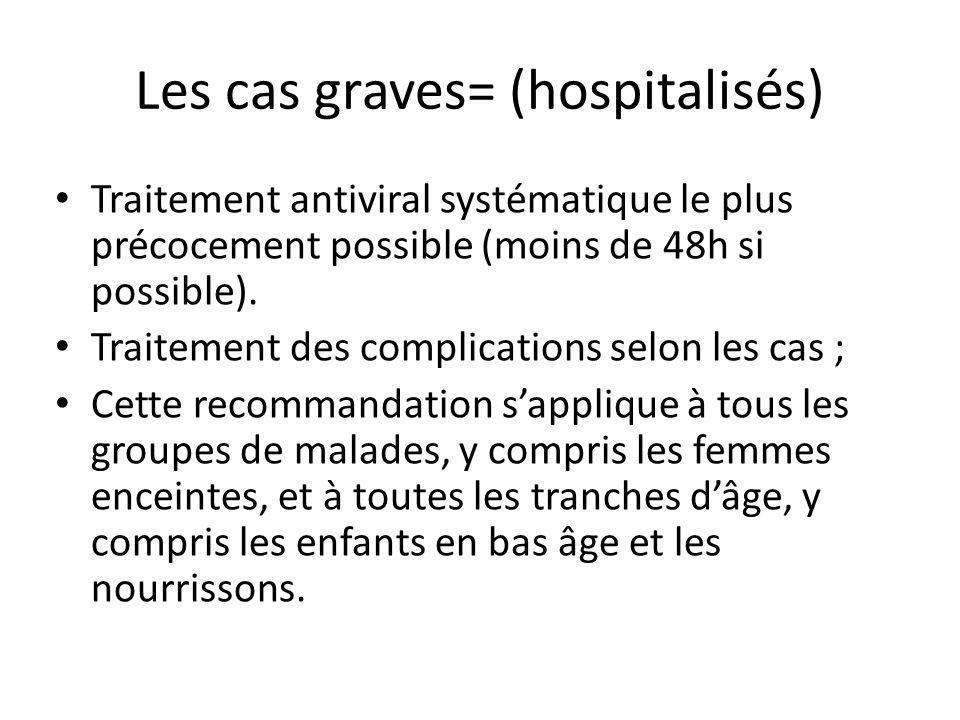 Les cas graves= (hospitalisés)