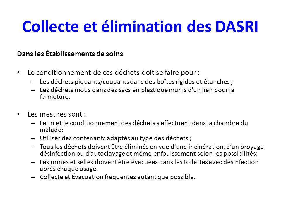 Collecte et élimination des DASRI