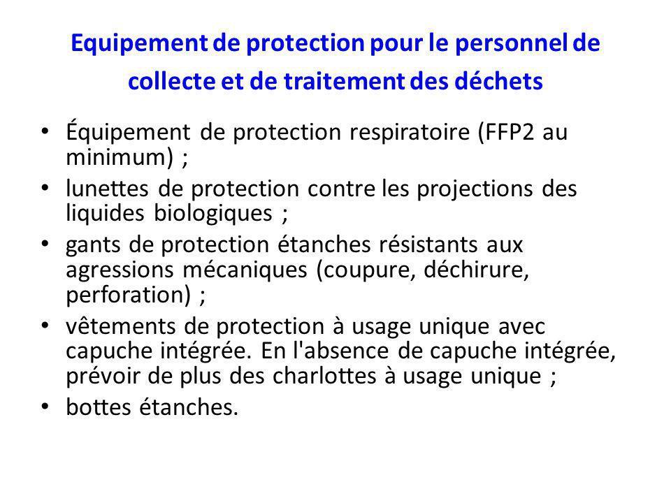 Equipement de protection pour le personnel de collecte et de traitement des déchets