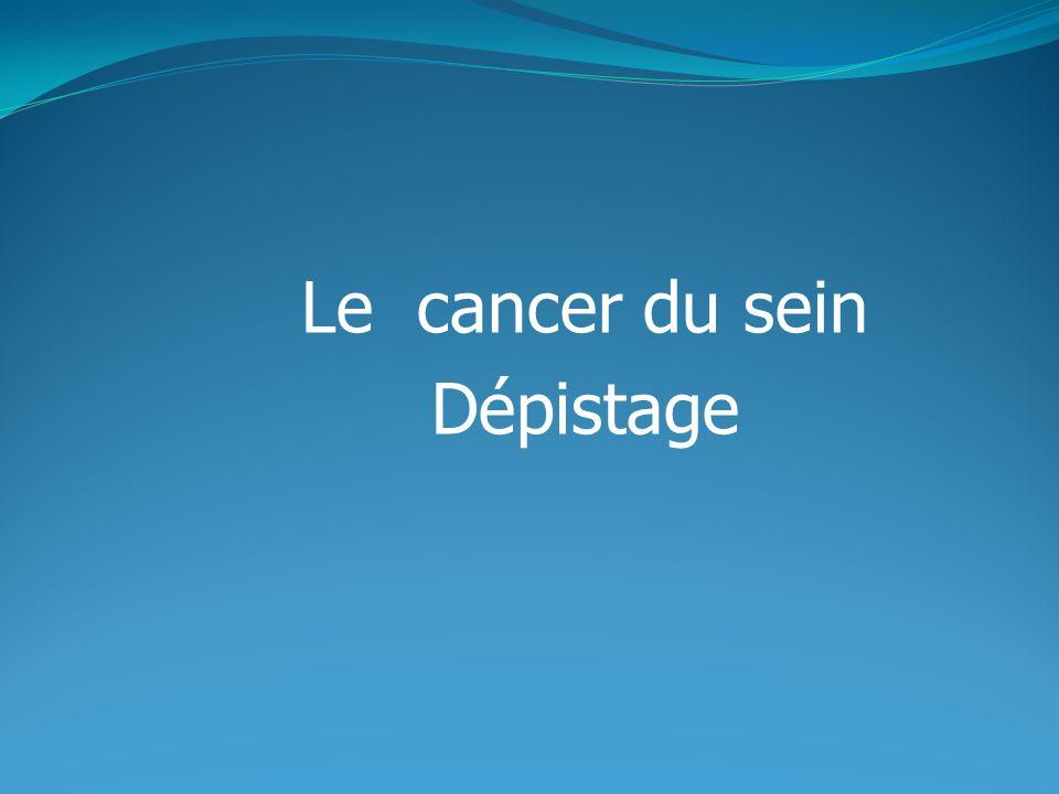Le cancer du sein Dépistage