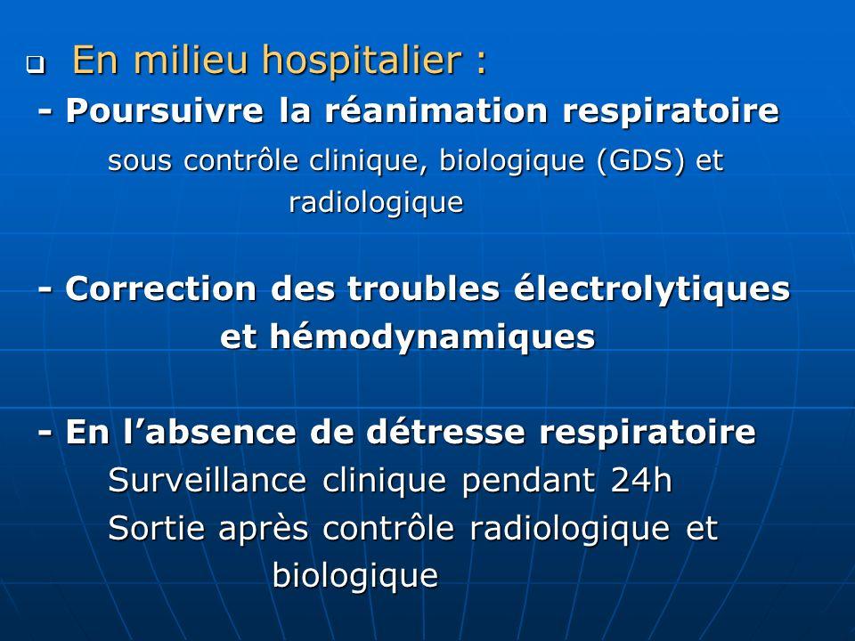 En milieu hospitalier :
