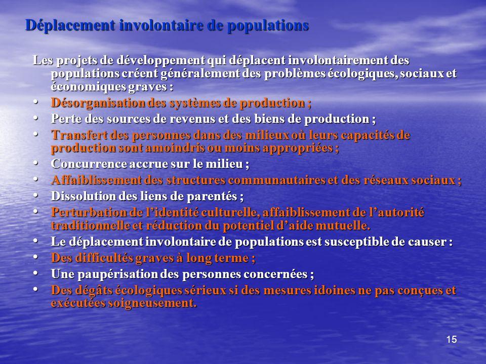 Déplacement involontaire de populations