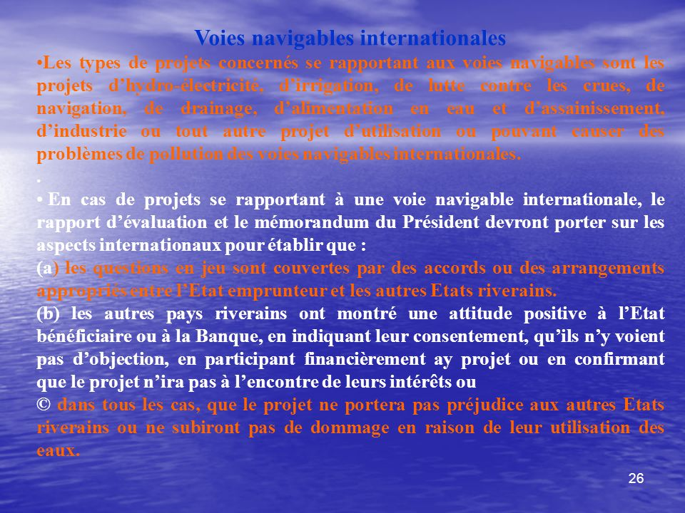 Voies navigables internationales