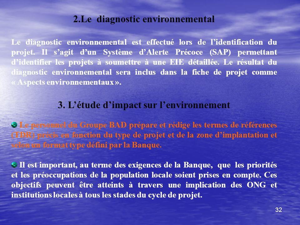 2.Le diagnostic environnemental