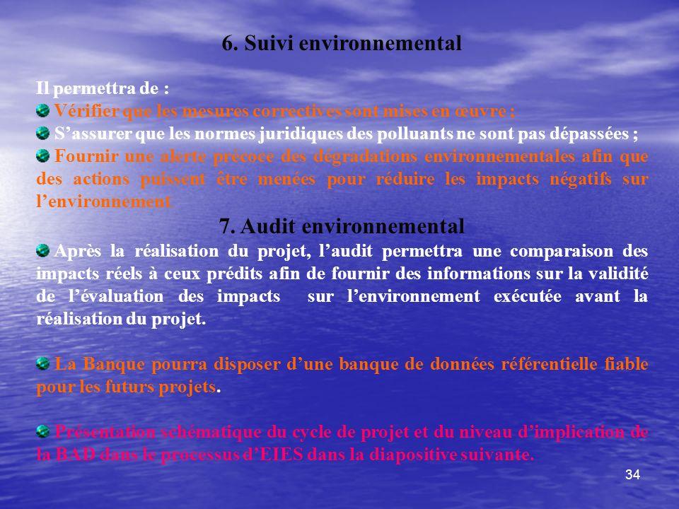 6. Suivi environnemental