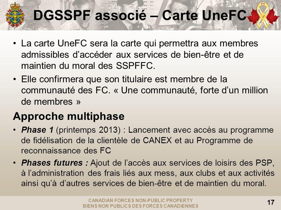 DGSSPF associé – Carte UneFC