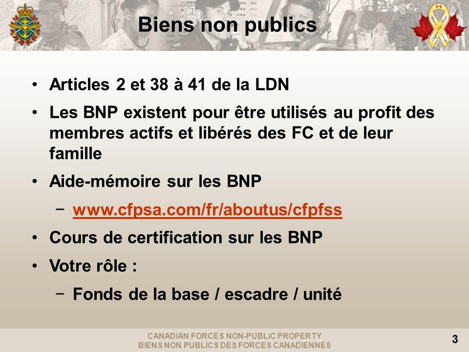 Biens non publics Articles 2 et 38 à 41 de la LDN