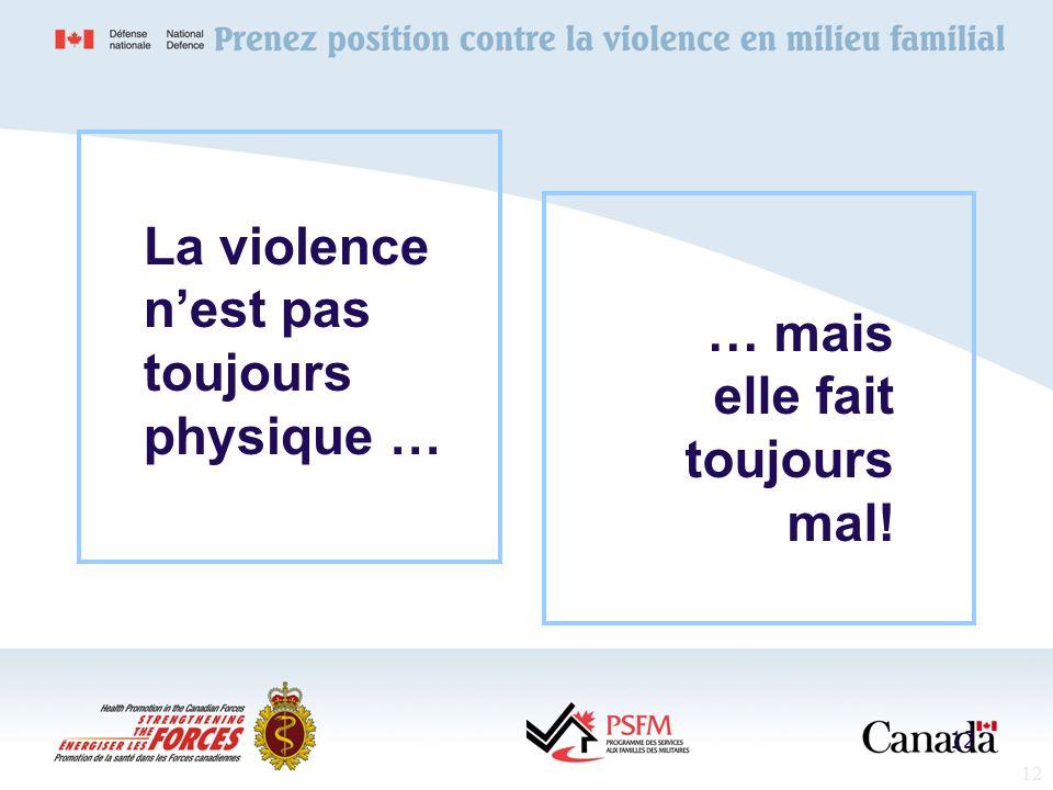 La violence n'est pas toujours physique …