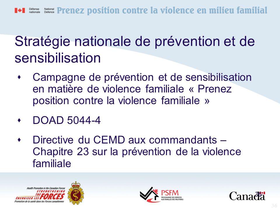 Stratégie nationale de prévention et de sensibilisation