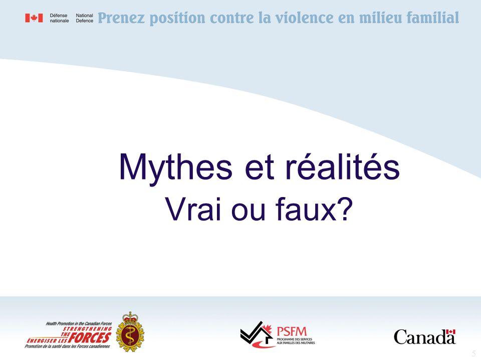 Mythes et réalités Vrai ou faux
