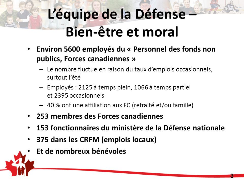 L'équipe de la Défense – Bien-être et moral