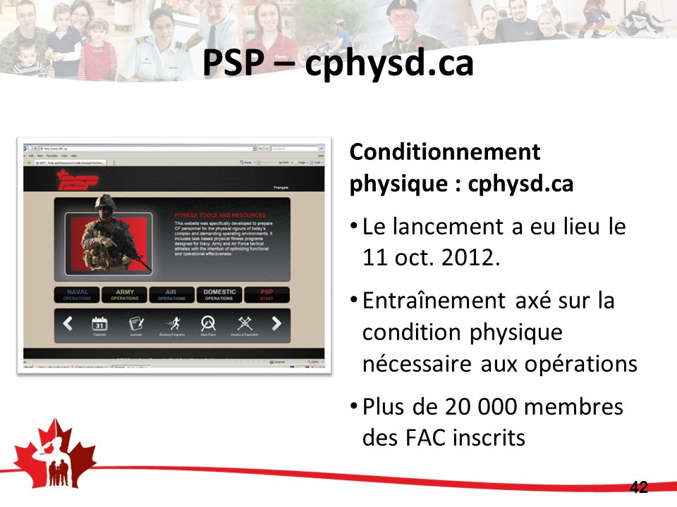 PSP – cphysd.ca Conditionnement physique : cphysd.ca