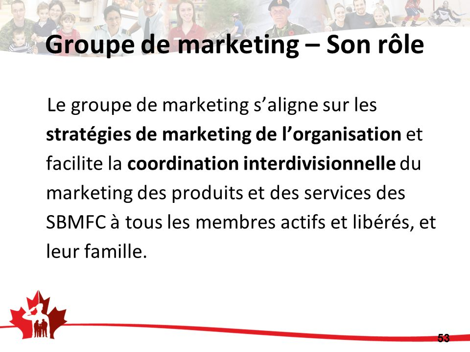 Groupe de marketing – Son rôle