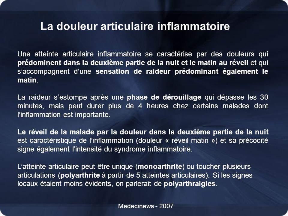 La douleur articulaire inflammatoire