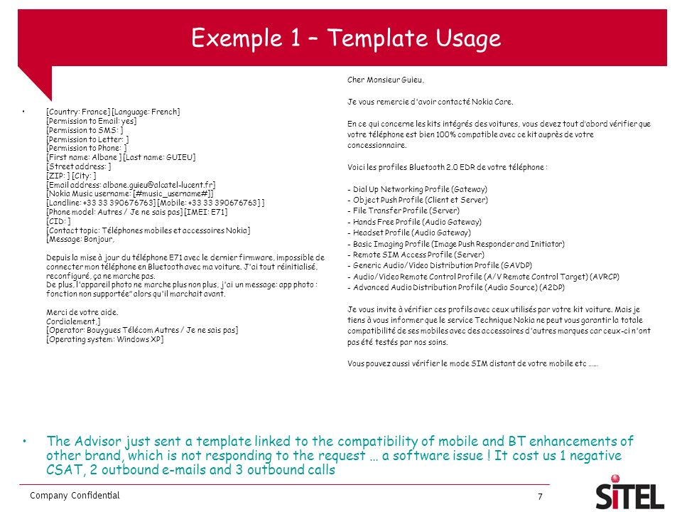 Exemple 1 – Template Usage