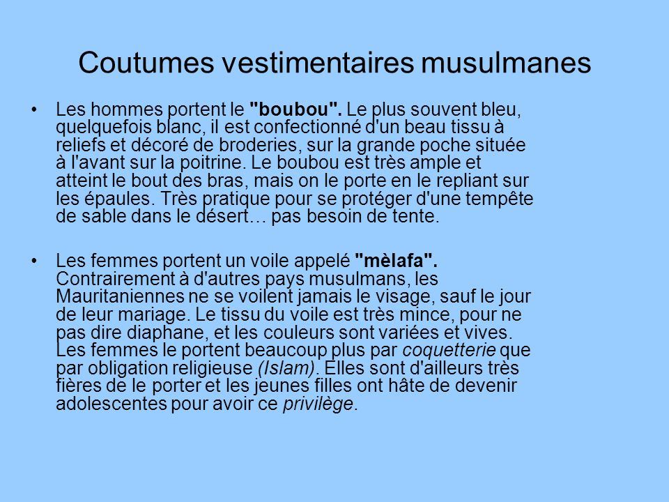 Coutumes vestimentaires musulmanes