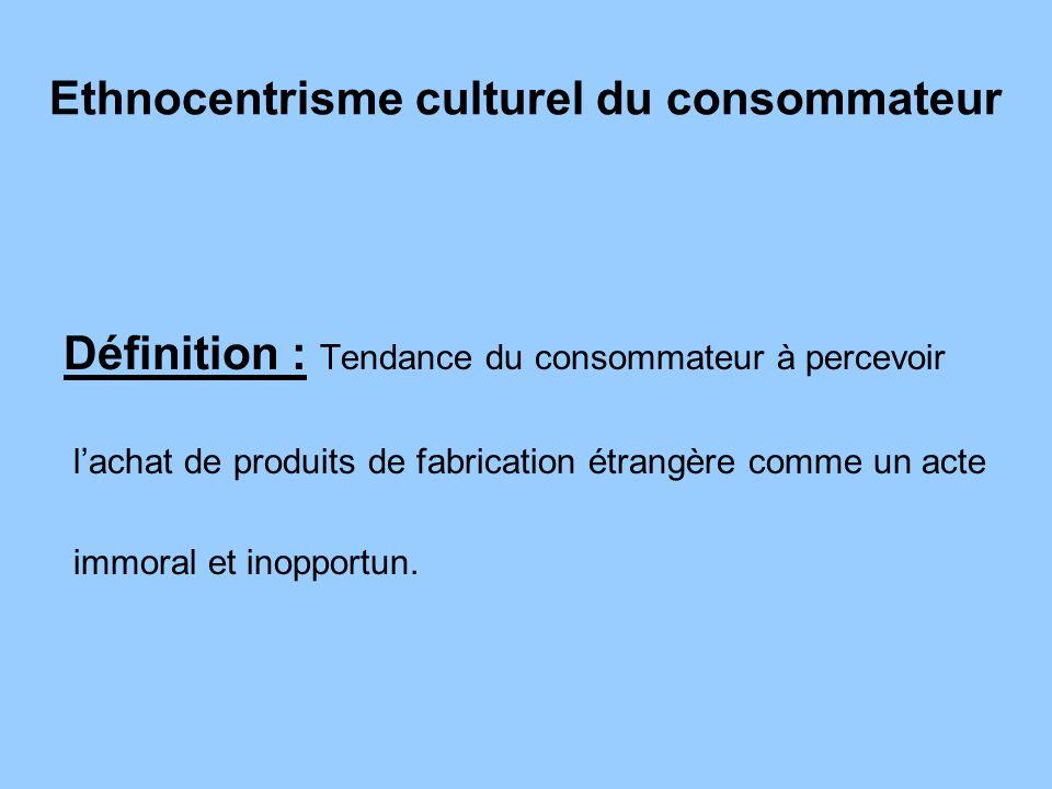 Ethnocentrisme culturel du consommateur