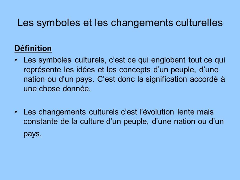 Les symboles et les changements culturelles
