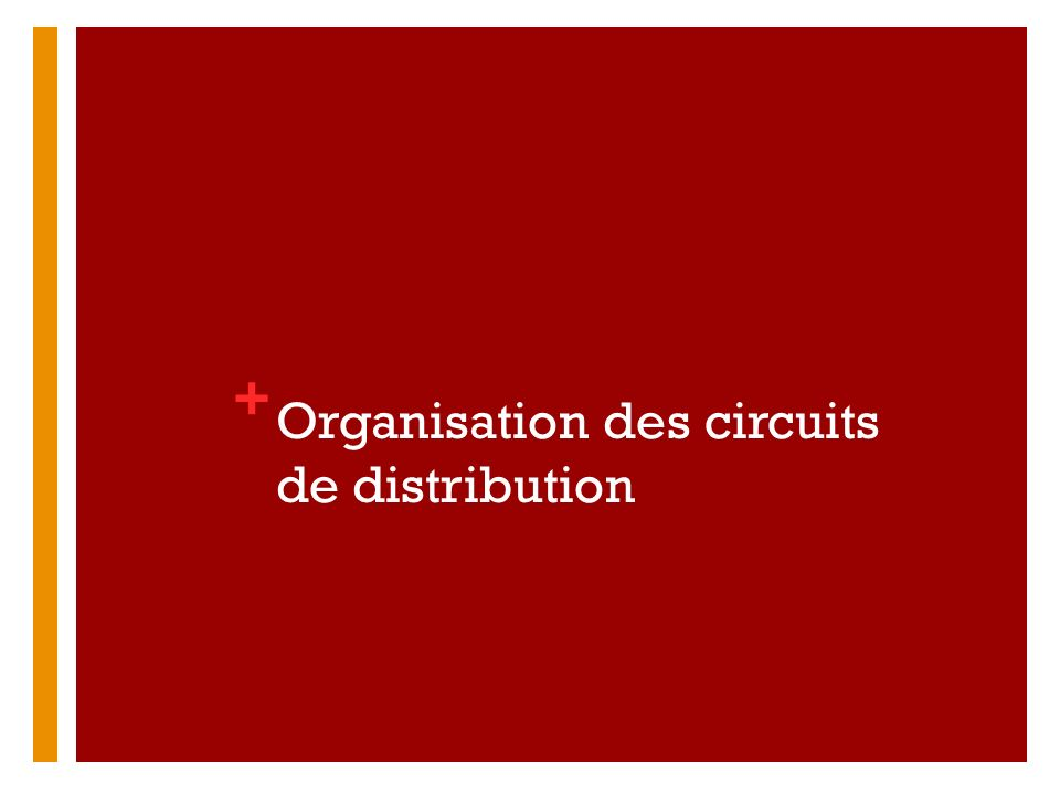 Organisation des circuits de distribution