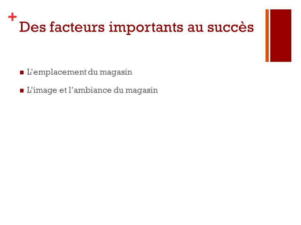 Des facteurs importants au succès