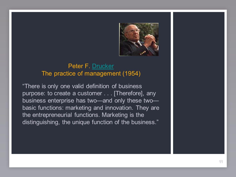 Peter F. Drucker The practice of management (1954)