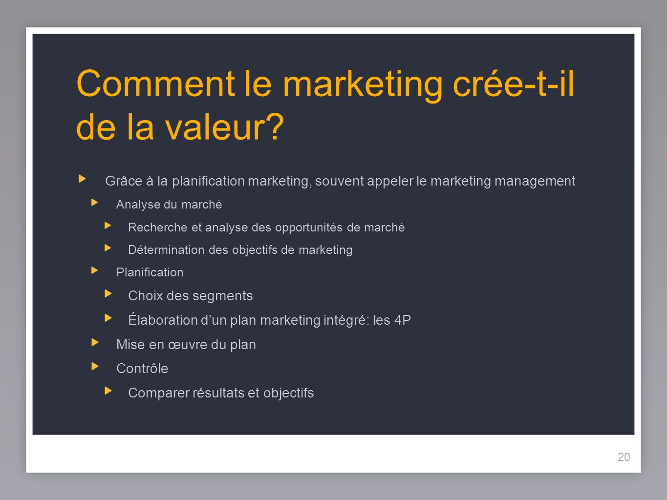 Comment le marketing crée-t-il de la valeur