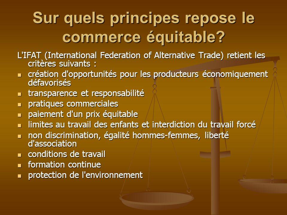 Sur quels principes repose le commerce équitable