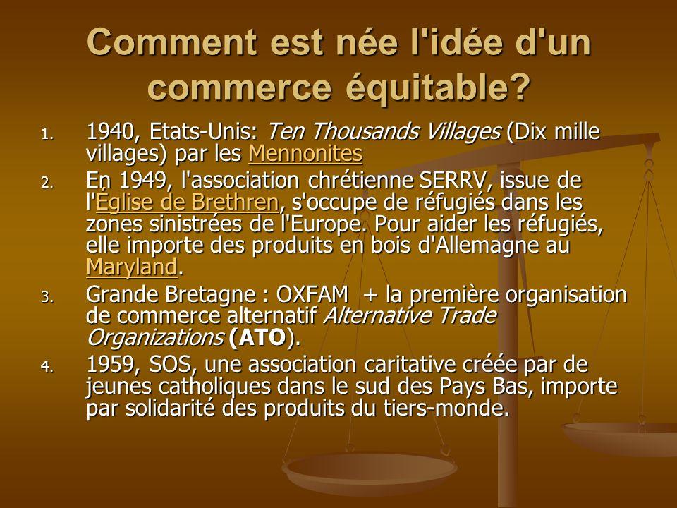 Comment est née l idée d un commerce équitable