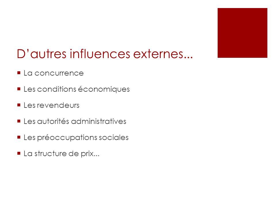 D'autres influences externes...