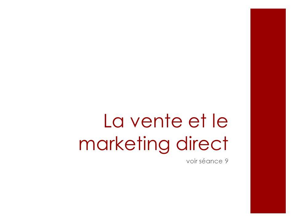La vente et le marketing direct