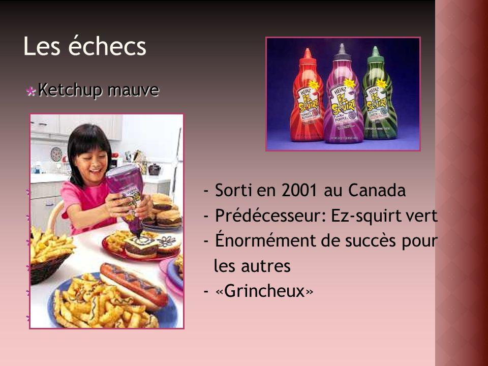 Les échecs Ketchup mauve - Sorti en 2001 au Canada