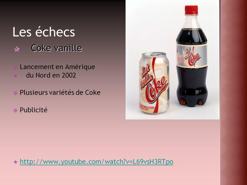 Les échecs Coke vanille Lancement en Amérique du Nord en 2002