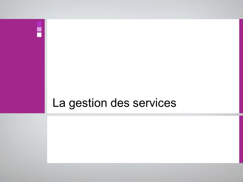 La gestion des services