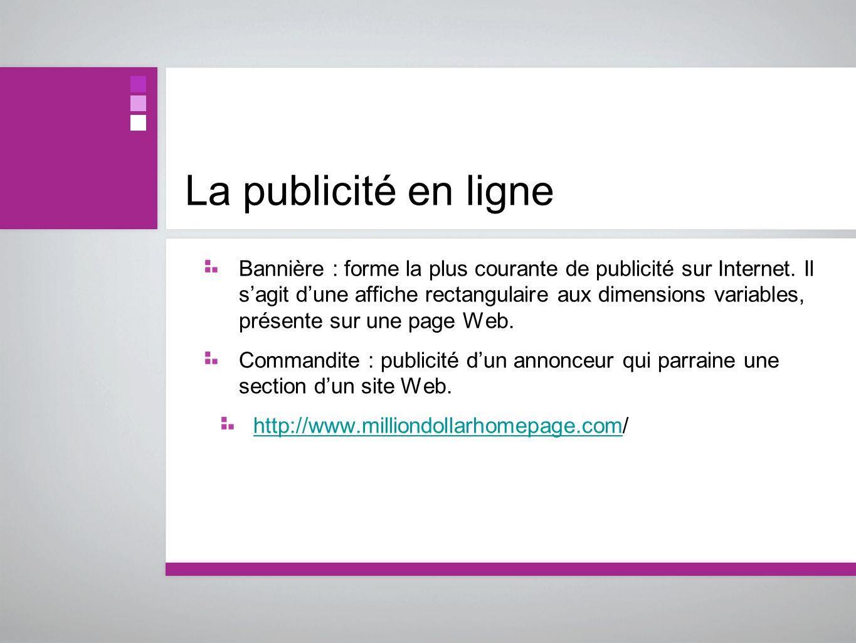 La publicité en ligne