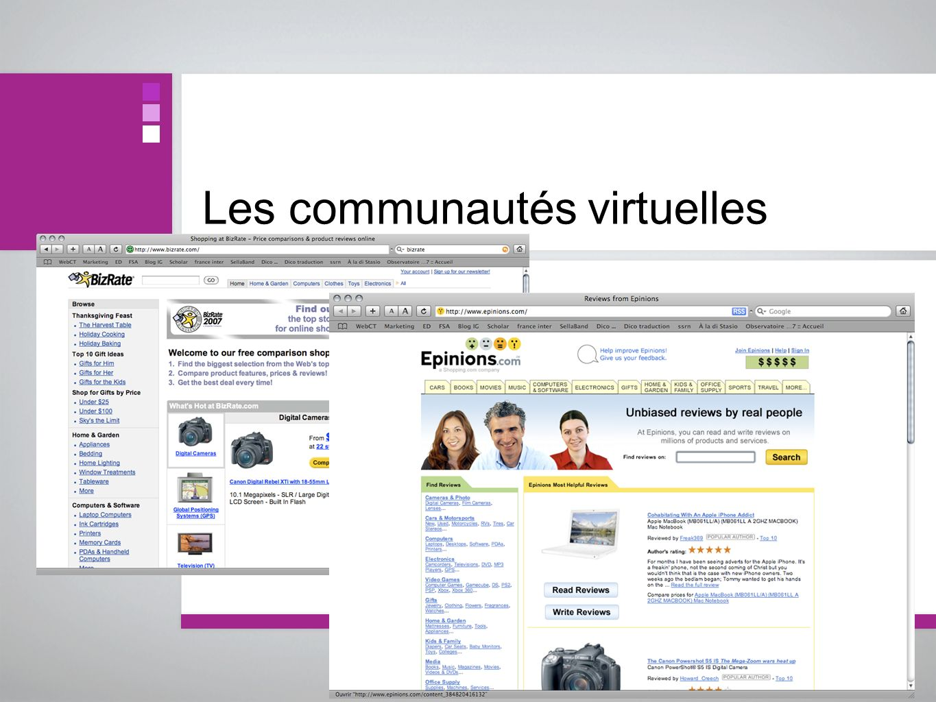 Les communautés virtuelles