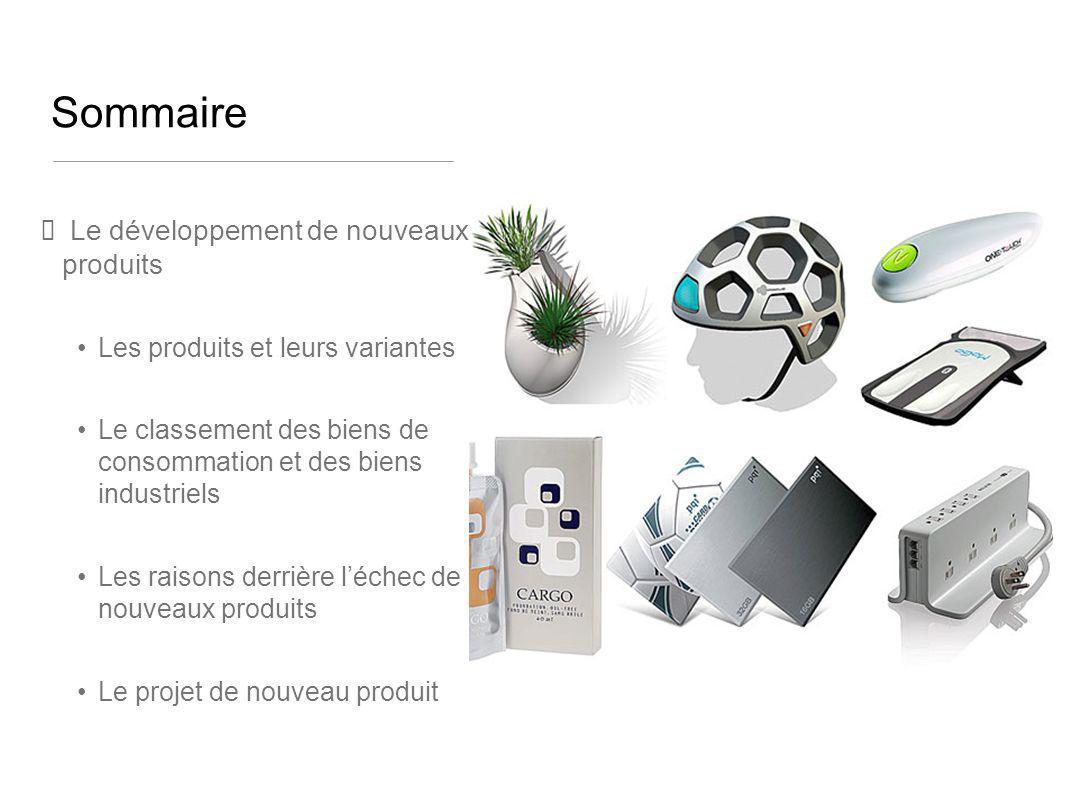 Sommaire Le développement de nouveaux produits