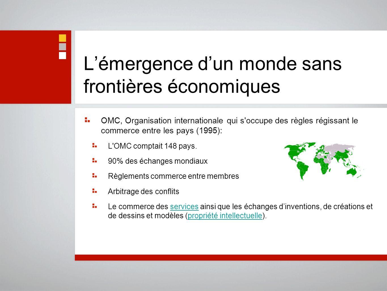 L'émergence d'un monde sans frontières économiques