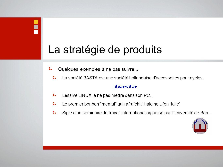La stratégie de produits