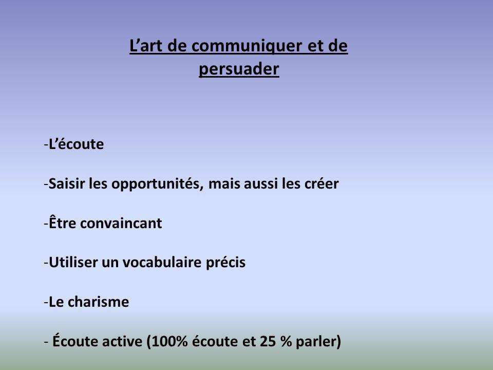 L'art de communiquer et de persuader