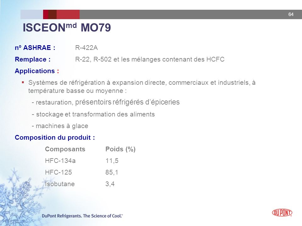 ISCEONmd MO79 - stockage et transformation des aliments