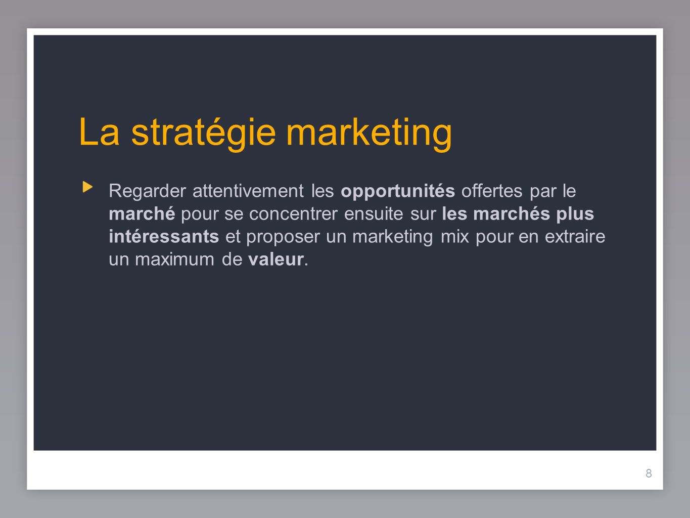 La stratégie marketing
