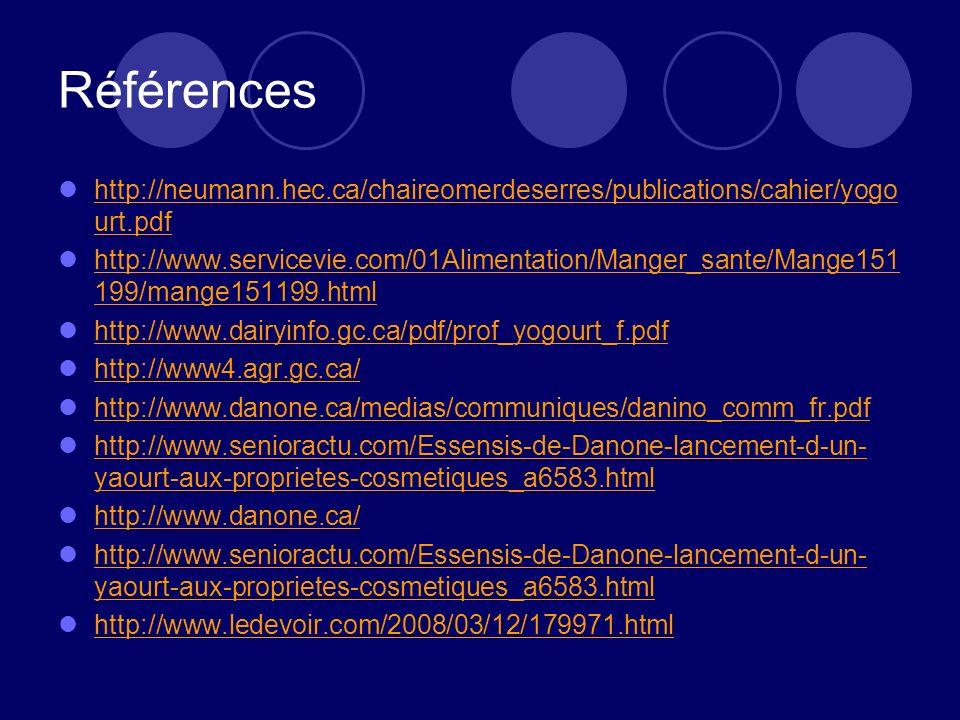 Références http://neumann.hec.ca/chaireomerdeserres/publications/cahier/yogourt.pdf.