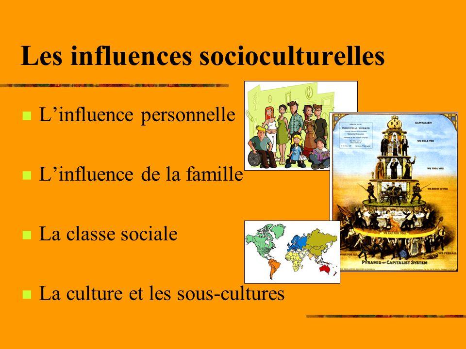 Les influences socioculturelles