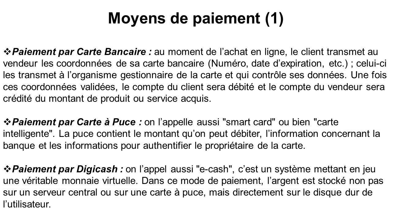 Moyens de paiement (1)
