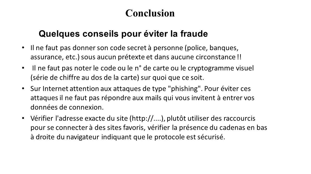 Quelques conseils pour éviter la fraude