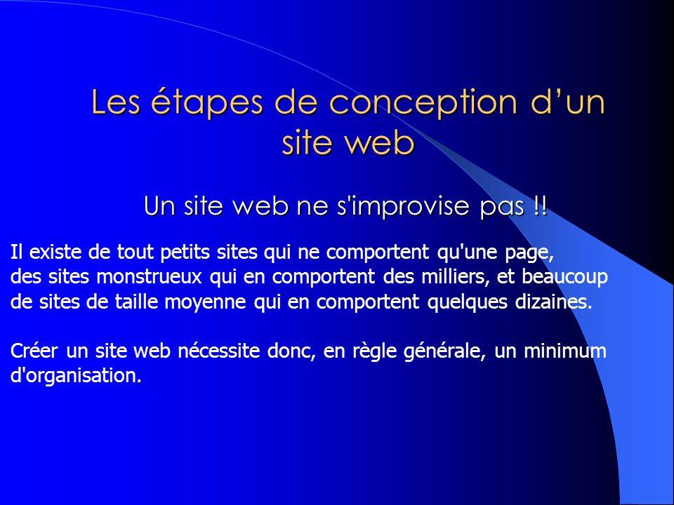 Les étapes de conception d'un site web