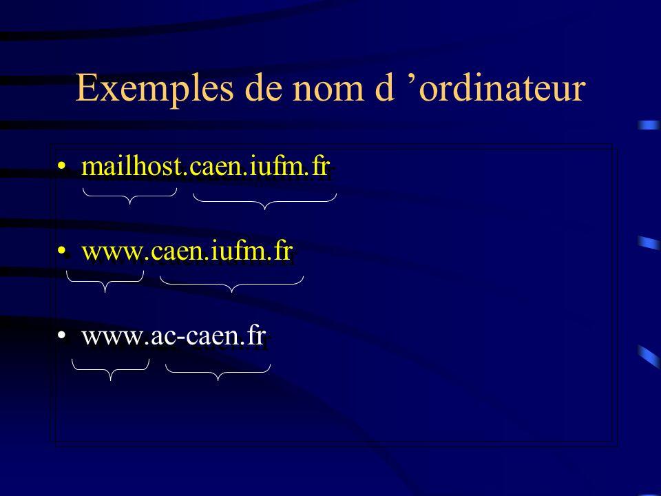 Exemples de nom d 'ordinateur