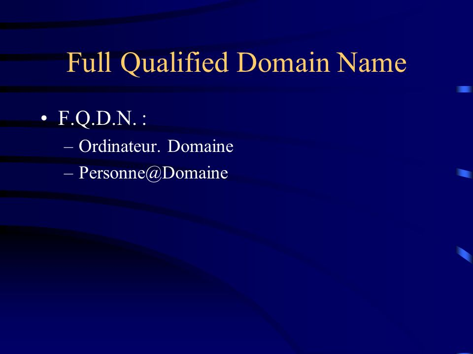 Full Qualified Domain Name