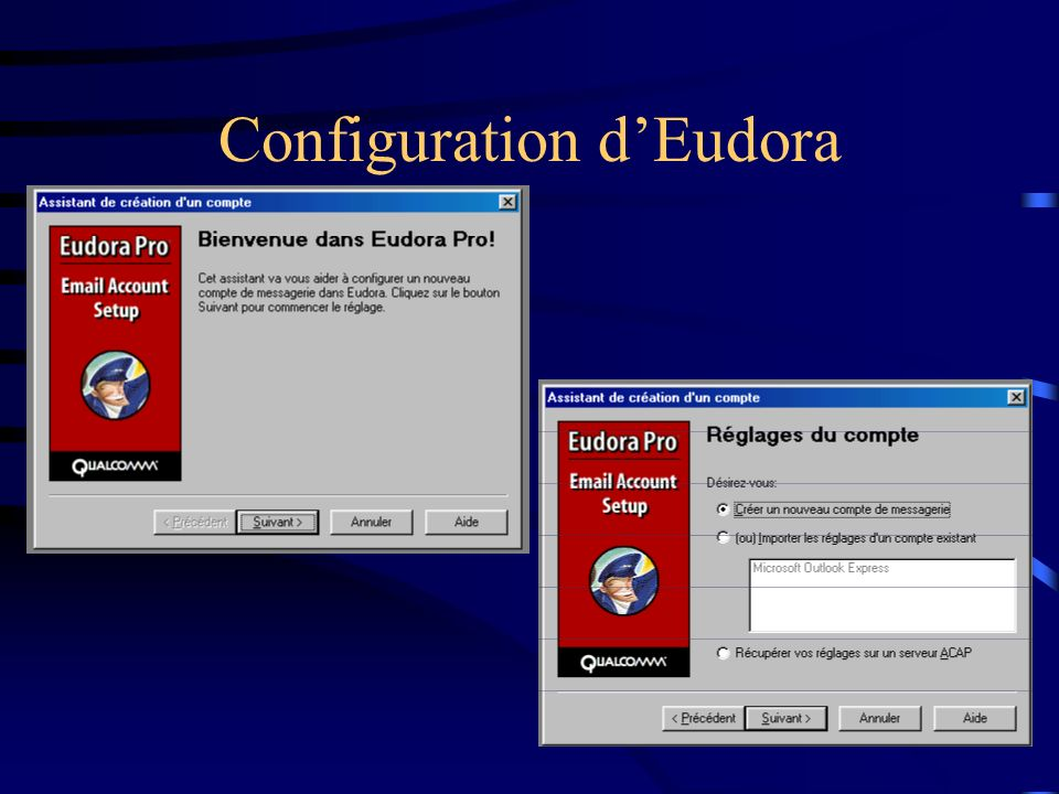 Configuration d'Eudora